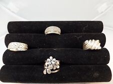 925 STERLING SILVER MISCELLANEOUS RINGS LOT OF 4  VARIOUS SIZE HEAVY # S 1173
