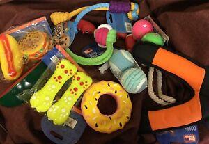 Dog Toys x10 Job Lot Rope Toys Squeaky Toys Dog Balls Rope Balls
