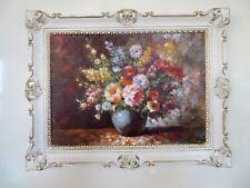 FOTO CUADRO FLORES Imágenes 90x70 flores con BÚCARO AZUL CUADRO CON MARCO 01-04