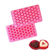 55 Heart Silicone Mini Cake Mould Chocolate Cookie Baking Mold Jelly Baking Tray