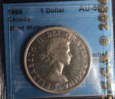1955 Canada Dollar  -  Graded - CCCS AU50  - short water lines