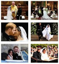 Royal Wedding Harry and Meghan Markle 6 Card Full Size POSTCARD Set