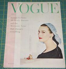 April Vogue 1955 Rare Vintage Vanity Fair Fashion Design Collection Magazine