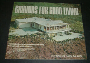 "vtg 1969 pca portland assoc.grounds for good living brochure w/ 23 plans 13""x11"""