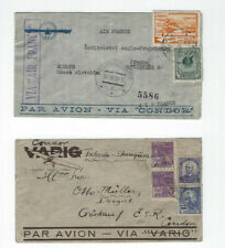 Latin America-Condor-Airs-To Europe-5 Covers-Used-Fine-Nice Cancels-#161