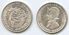 G2634 - Panama 1/4 Balboa 1961 KM#25 Silber XF Vasco Nunez de Balboa