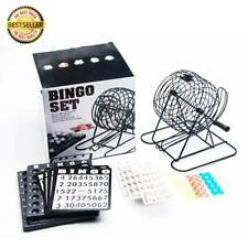 Complete Bingo Game Set Lotto Party Game 75 Balls,18 Cards & Cage
