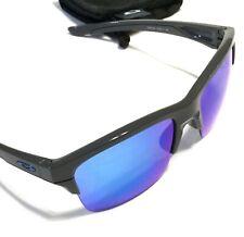 OAKLEY THINLINK SUNGLASSES Dark Grey Frames Blue Icons Sapphire Iridium Lenses