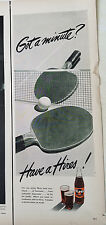 1950 Vintage Hires Root Beer Rootbeer Ping Pong Paddles Ball Original  Ad