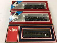 SET of 3 used Lima 1661/ 309154   Passenger Cars for Modeltrain H0