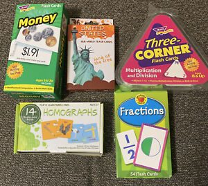 Flash Cards : Money, Homographs, Fraction, Our World & Math