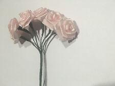 bouquet de 12 Mini rose Fleurs Rose Artificielles Art Déco de Table mariage 2 cm