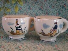 Vintage Dutch design Teacup Salt And Pepper Shakers