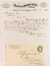Hussey, Dahler & Co. Letter & Cover, 1871, Dealers in Gold Dust & Coin Lot 3269