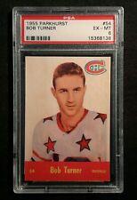 1955 55-56 Parkhurst Bob Turner (54) Rookie Montréal Canadiens PSA 6
