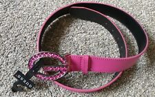Guess Pink Belt With Rhinestones Sz Large NWT