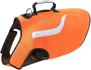 COODEO REVERSIBLE DOG LIFT HARNESS REFLECTIVE HUNTING VEST ORANGE-CAMO XL uns