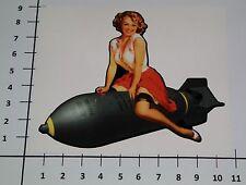 PIN UP BOMBSHELL Aufkleber Sticker US Army Retro Tattoo Rockabilly Auto V8 Pu067