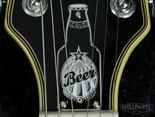 COLD BEER! Brass Truss Rod Cover. Fits most Epiphone Les Paul, SG and others.