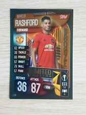 MATCH ATTAX 19/20 RARE MARCUS RASHFORD BRONZE LIMITED EDITION LE9B - MINT