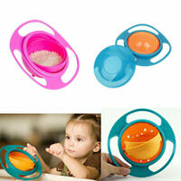 Baby Feeding Bowl 360° Rotating Toddler Infants Training No-spill Magic Balance