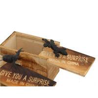 Tricks for Friends/Family--Surprise Wooden Box Gag Gift Practical Joke Prank Toy