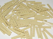 Lego Lot of 100 New Tan Plates 1 x 6 Dot Bricks Pieces