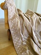 Luxueux Chenille taffetas Throw couverture fauteuil canapé 170x230cm Light Brown Gold