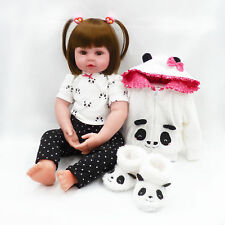"""Reborn Baby Dolls Realistic Silicone Baby Toddler Doll for Girls 24"""" + Outfit"""