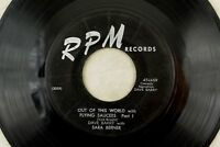 Sara Berner - Novelty R+B RPM 45 RPM - Out Of This World w/ Flying Saucers B1