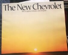 1977 Chevrolet Caprice Classic And Impala Sales Brochure Used