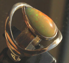 Welo Multicolor Opal 4.1 Karat 950er Silberring Größe 19,1 mm