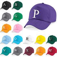 Kids Embroidery Baseball Cap Girls Boys Junior Childrens Hat Summer A Z Purple