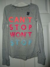 New Gap Fit Girls Long Sleeve T-Shirt Sparkle Letters Size Xxl 13 Years