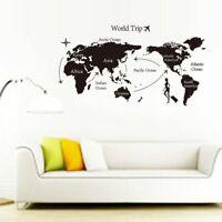1pcs World Map Vinyl Wall Stickers PVC DIY Self Adhesive Sticker Art Wall Decal