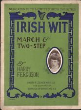 IRISH WIT 1906 United Irish Societies HARRY FERGUSON March Two Step Sheet Music