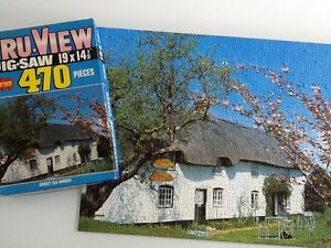 "Vintage Jigsaw Tru-View over 470 pieces 'Dorset Tea Garden'19"" x 14.5"""
