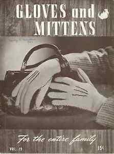 Bernhard  Ulmann Bear Brand Yarns Retro 1944 Men Women Kids Gloves Pattern Book