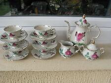SERVICE MOKA porcelaine BAVARIA ROYAL KM DECOR ROSES