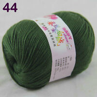 Sale 1ballx50g DK Baby Cashmere Silk Wool Children hand knitting Crochet Yarn 44