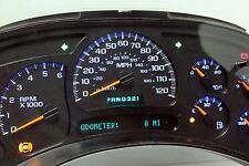 0-miles BLUE LED 03-04 Chevrolet Tahoe REMAN Instrument Panel Cluster