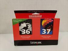Lexmark Ink Cartridge 36 Black 37 Color Genuine