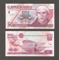 MEXICO  P.101  50 NUEVOS PESOS 10.12.1992  VERY FINE  WE COMBINE