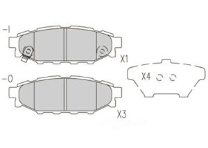 Disc Brake Pad Set-Premium Semi Metallic Pads Rear Dash 4 Brake MFD1114