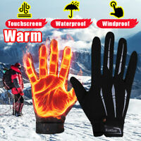 Durable Windproof Men Women Winter Warm Gloves Thermal Touch Screen   @#FG