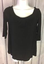 Michael Stars Womens 3/4 Sleeve Off Shoulder Top Style #2334 One Size Black