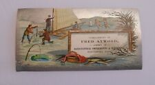 Victorian Trade Card Mechanical Fred Atwood Agricultural Machinery Winterport ME