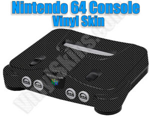 Choose Any 1 Skin Design for the Nintendo 64 Console + 2 Controllers  -Free Ship