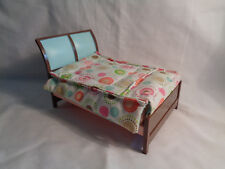 Fisher Price Loving Family Dollhouse Replacement Double Bed Quilted Coverlet