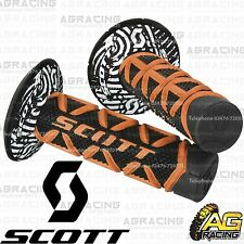 Scott Diamond Orange Black Grips Donuts Medium Soft Waffle Yamaha YZ YZF WR WRF